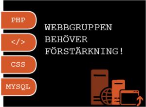 Webbgruppen behöver förstärkning
